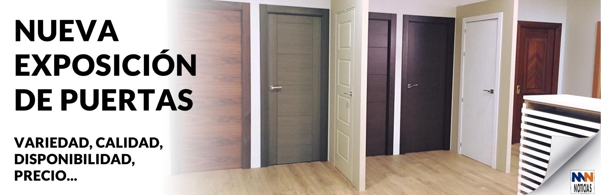 Nueva exposición de puertas en Maderas Medina y Navarro