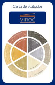 Tableros Viroc. Carta de acabados