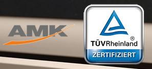 Calidad bajo la norma AMK certificada por TÜV Rheinland