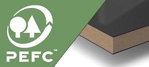 Certificado PEFC para los tableros interiores de MDF