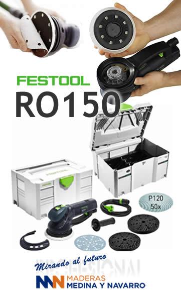 Oferta lijadora RO 150 con almohadillas y lijadoras