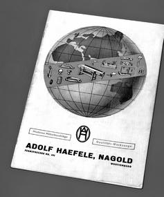Portada del catálogo de Hafele en 1939