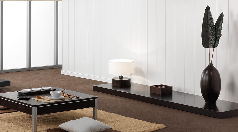 Duelas blancas de madera mostradas en un hogar